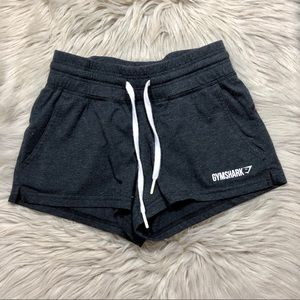 Gymshark dark gray elastic pull on shorts size XS